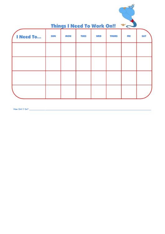 Things I Need To Work On Aladdin Template Printable pdf