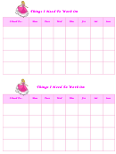 Things I Need To Work On Behaviour Chart - Cinderella