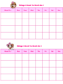 Things I Need To Work On Behaviour Chart - Littlest Petshop