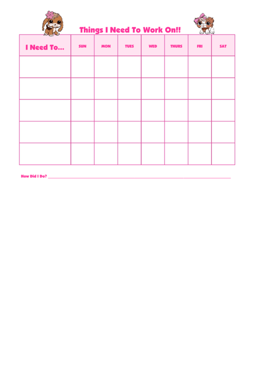 Things I Need To Work On Littlest Petshop2 Template Printable pdf