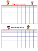 Things I Need To Work On Behaviour Chart - Einsteins