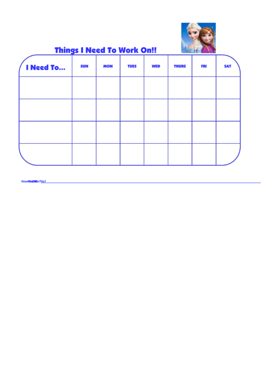 Things I Need To Work On Frozen Template Printable pdf