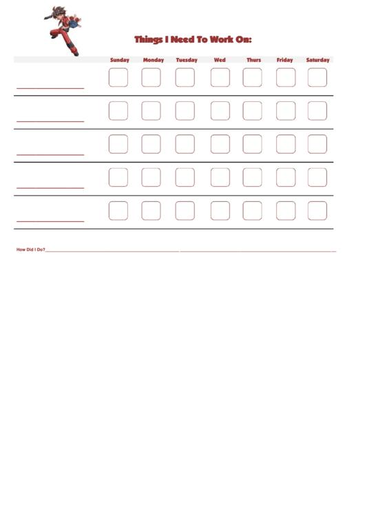 Things I Need To Work On Bakugan Template Printable pdf