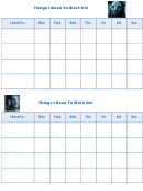Things I Need To Work On Behaviour Chart - Avatar