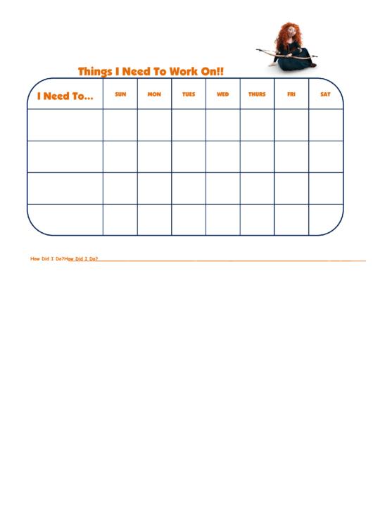 Things I Need To Work On Merida-Brave Template Printable pdf