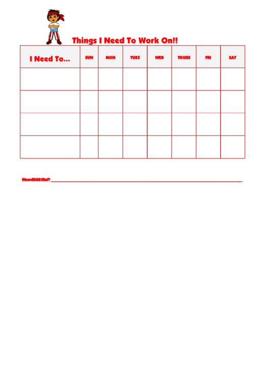 Things I Need To Work On Chart - Diego Beh Printable pdf