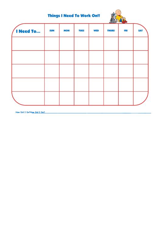 Things I Need To Work On Callou Gilbert Template Printable pdf