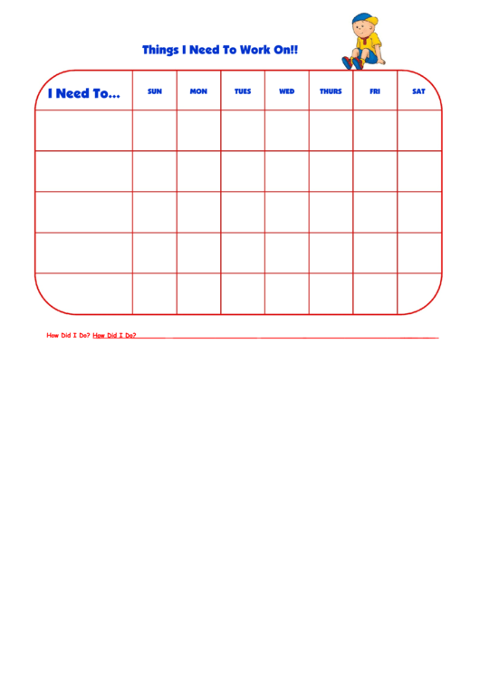 Things I Need To Work On Callou Template Printable pdf