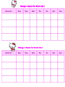 Things I Need To Work On Behaviour Chart - Hello Kitty