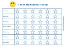 Medicine Taking Chore Chart
