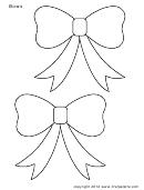 White Bow Templates