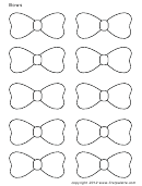 Small Bow Templates