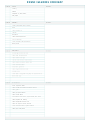 House Cleaning Chart Blank