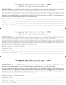Form I862 - Affidavit For Low Income Employees -emergency Municipal Services Tax (emst)