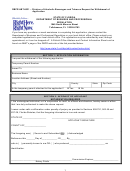 Dbpr Form Abt-6031 - Division Of Alcoholic Beverages And Tobacco Request For Withdrawal Of Application