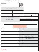 Form Cr2e083b - Limited Liability Company Uniform Business Report (ubr)