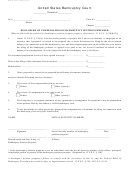 Form 2800 - Disclosure Of Compensation Of Bankruptcy Petition Preparer