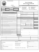 Monthly Sales Tax Return Form - Town Of Carbondale - 2007