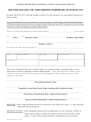 Form Hsmv 82082 - Off-line Issuance Of A Pre-printed Temporary License Plate