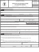 Form As 2920.1 - Certificate For Purchases Covered By A Qualified Contract - Department Of The Treasury Of Commonwealth Of Puerto Rico