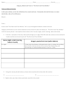Literary Review Worksheet - Imagery, Mood And Tone In