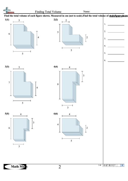 Finding Total Volume Worksheet Printable Pdf Download. Finding Total Volume Worksheet. Worksheet. Volume Worksheet Year 3 At Mspartners.co