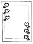 Valentine's Day Hearts Page Border Template