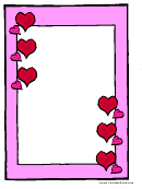 Valentine's Day Pink Page Border Template