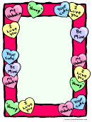 Valentine's Day Candies Page Border Template
