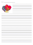 Valentine's Day Lined Writing Paper Template