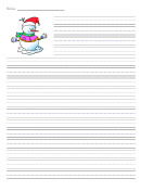 Winter Snowman Writing Paper Template