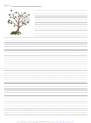 Fall Tree Writing Paper Template