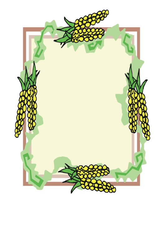 Corn Cobb Writing Paper Template Printable pdf