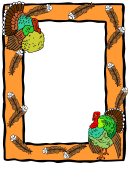 Thanksgiving Turkey Page Border Template