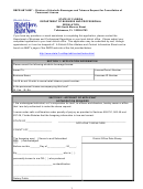 Dbpr Form Abt-6007 - Division Of Alcoholic Beverages And Tobacco Request For Cancellation Of Permanent License