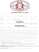 Equipment Rental Form