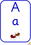 Alphabet Game Card Templates - Blue Border
