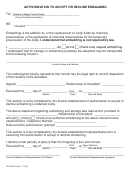 Form 12-auth - Authorization To Accept Or Decline Embalming