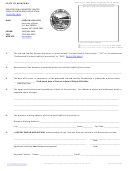 Registration Of Domestic Limited Liability Partnership Application - Montana Secretary Of State Of