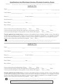 Application For Marriage License Form