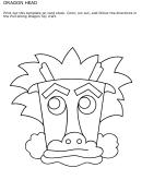 Dragon Head Coloring Sheet - 2010