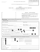 State Tax Form 96-1 - Senior Application For Statutory Exemption - 2007