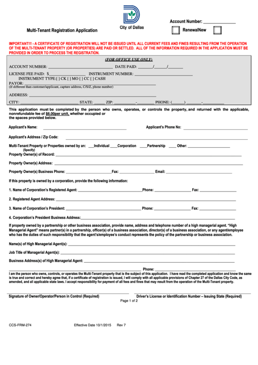 form ccs frm  multi tenant registration application Irs Annual Gift Tax