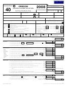 Form 40 - Oregon Individual Income Tax Return - 2008