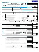 Form 40 - Oregon Individual Income Tax Return - 2014