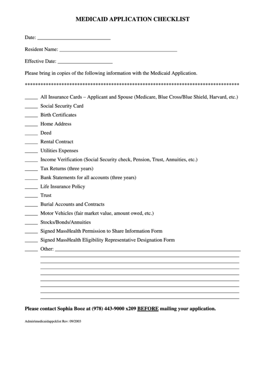 Medicaid application checklist form printable pdf download for Craft fair application template