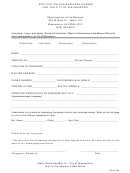 Form Bl-1 - Application For Business License For The City Of Waynesboro