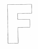 F-letter Coloring Sheet