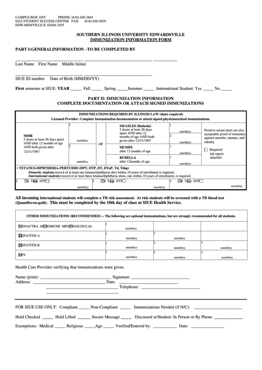 56 Immunization Form Templates free to download in PDF, Word and Excel