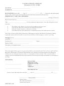 Cancellation By Affidavit Form